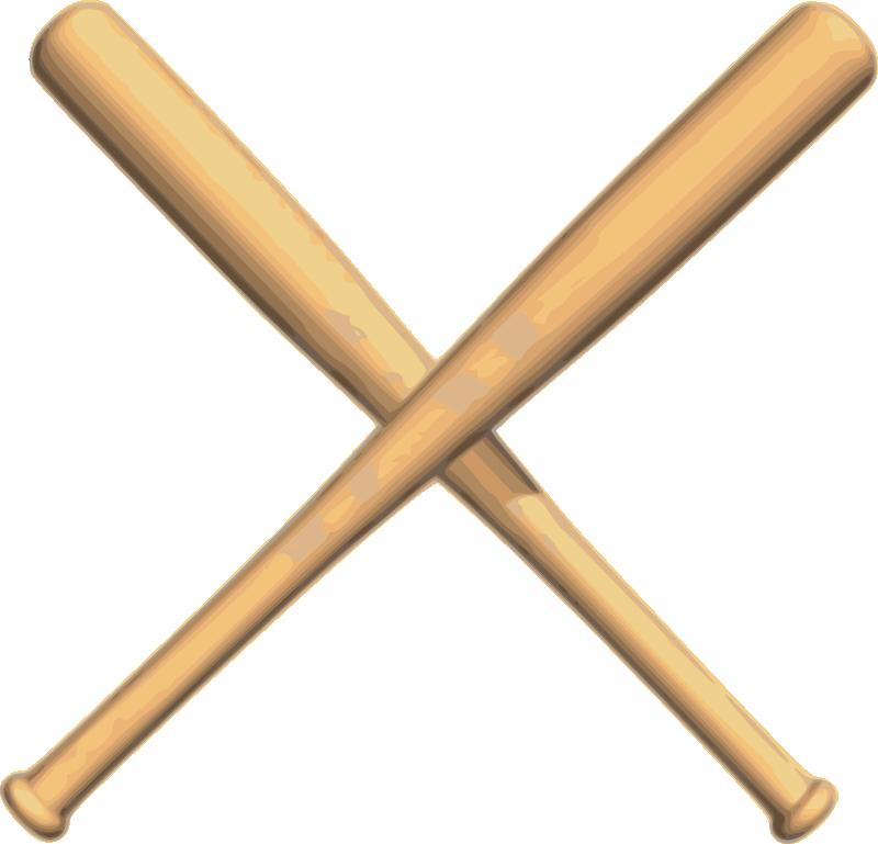 Crossed baseball bat panda. Sports clipart rounders