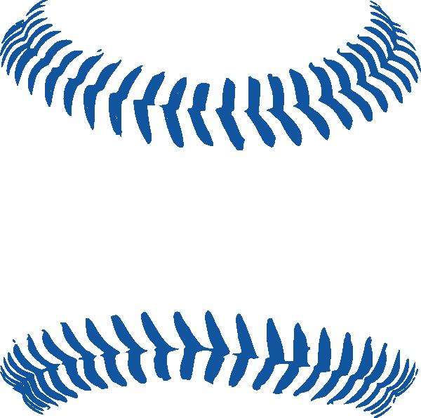 Lace clipart half baseball. Line art group blue