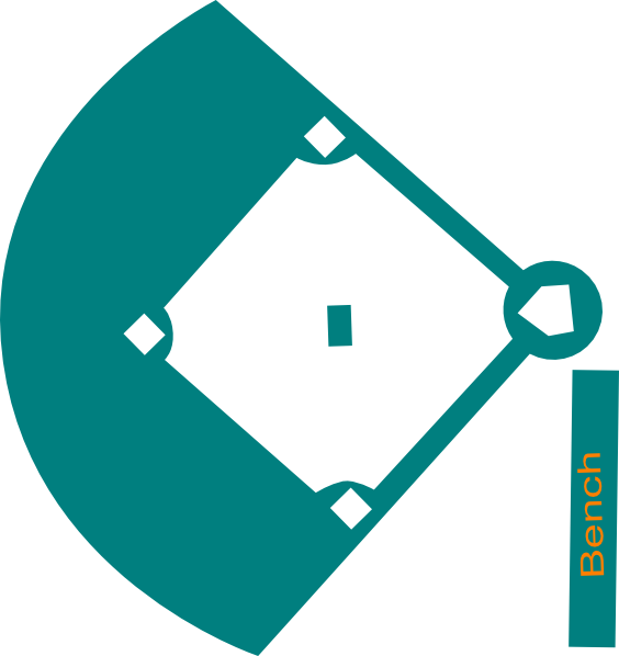 Blue clip art at. Clipart diamond baseball field