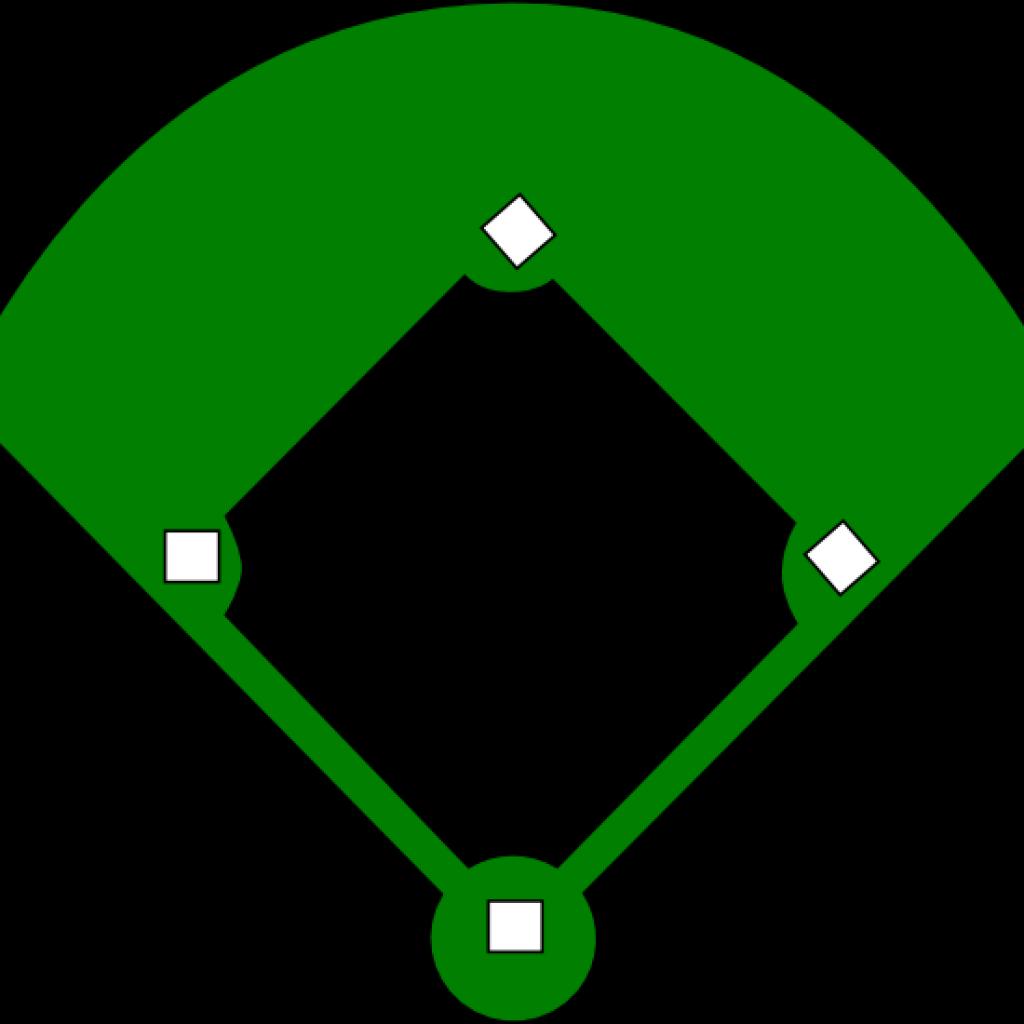 Baseball field bear hatenylo. Diamond clipart template