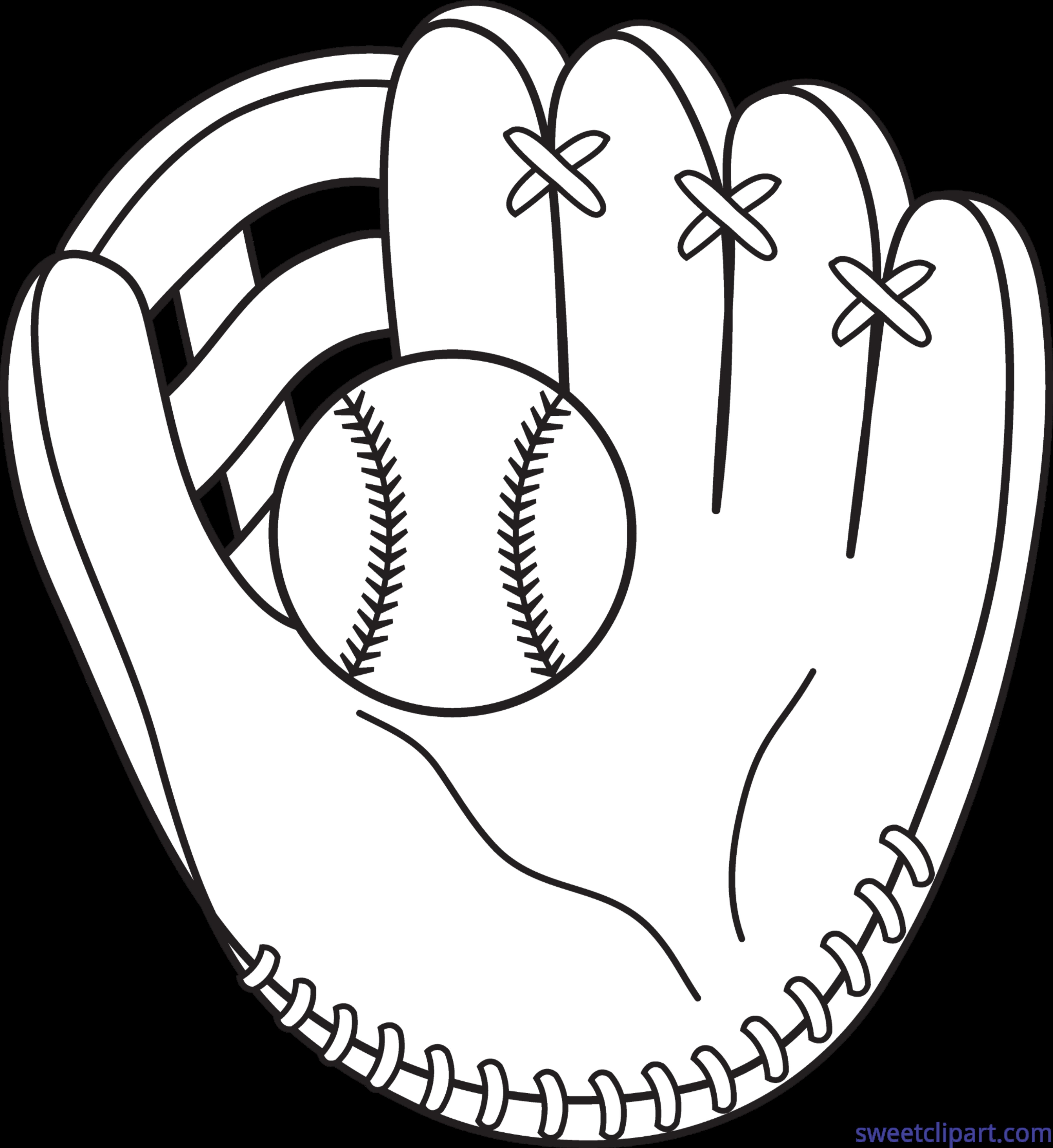Mitt lineart clip art. Clipart hearts baseball