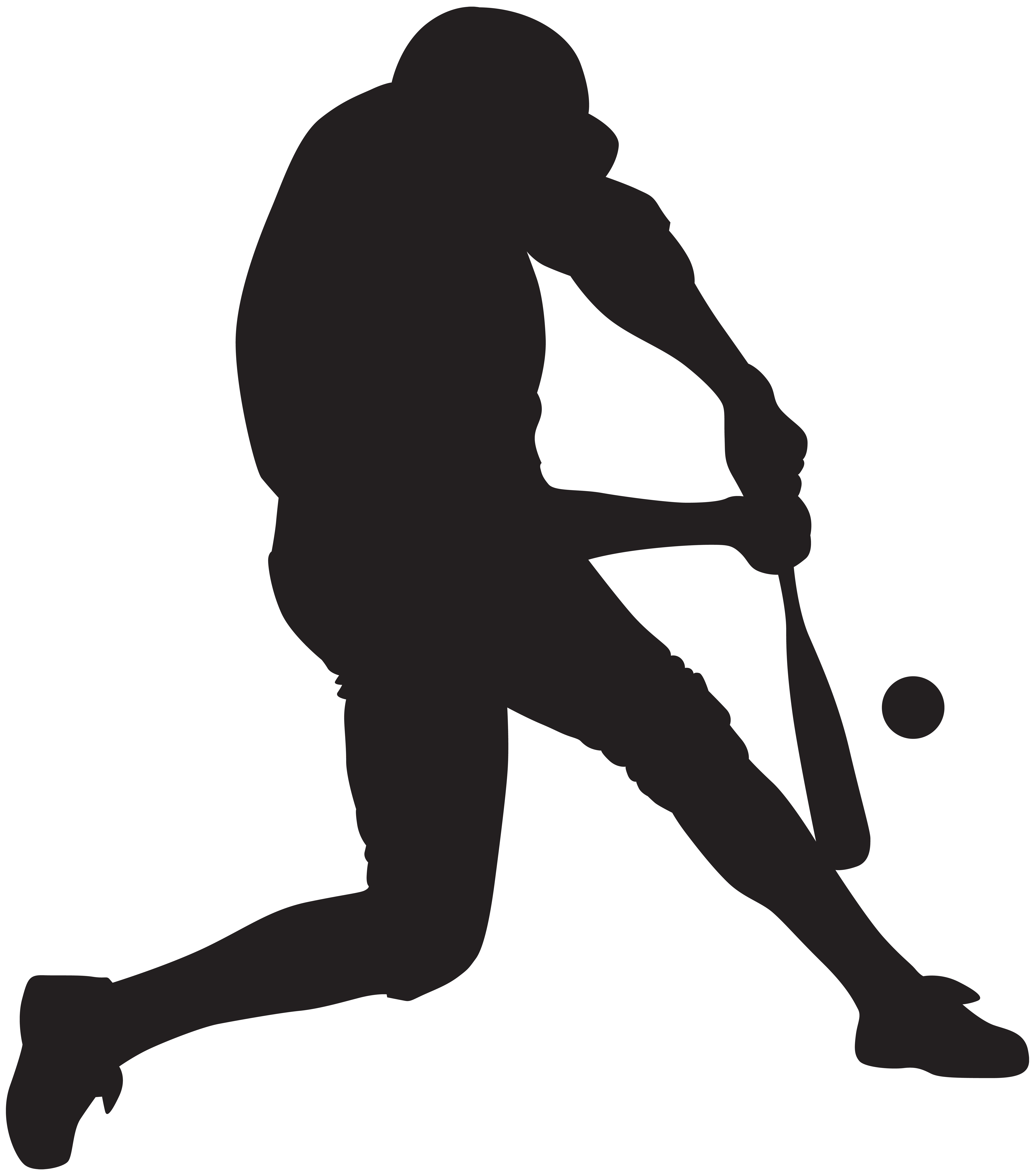 Hockey clipart silhouette. Baseball player png clip