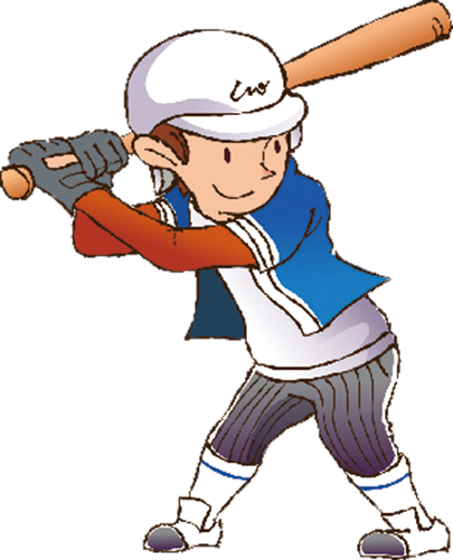 Cartoon athlete baseball transprent. Games clipart athletic game