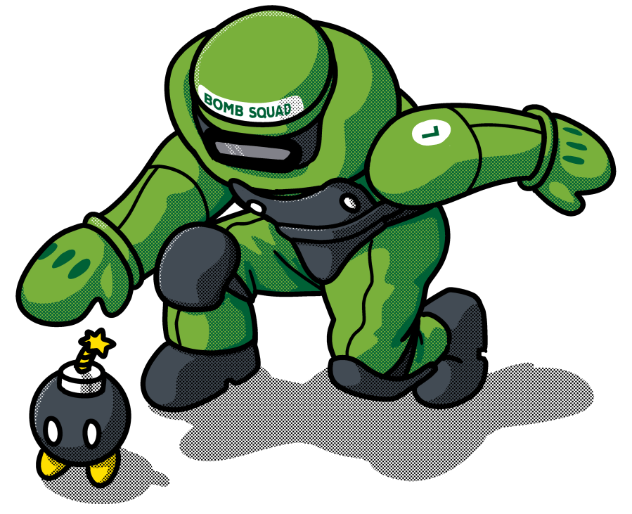 Bomb omb squad tee. Piano clipart green toy