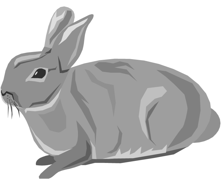 Wolves clipart rabbit. Free