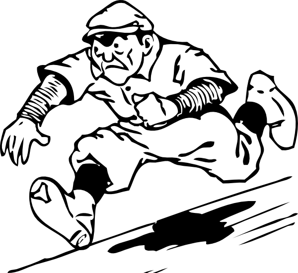Softball clipart vintage. Free baseball running for
