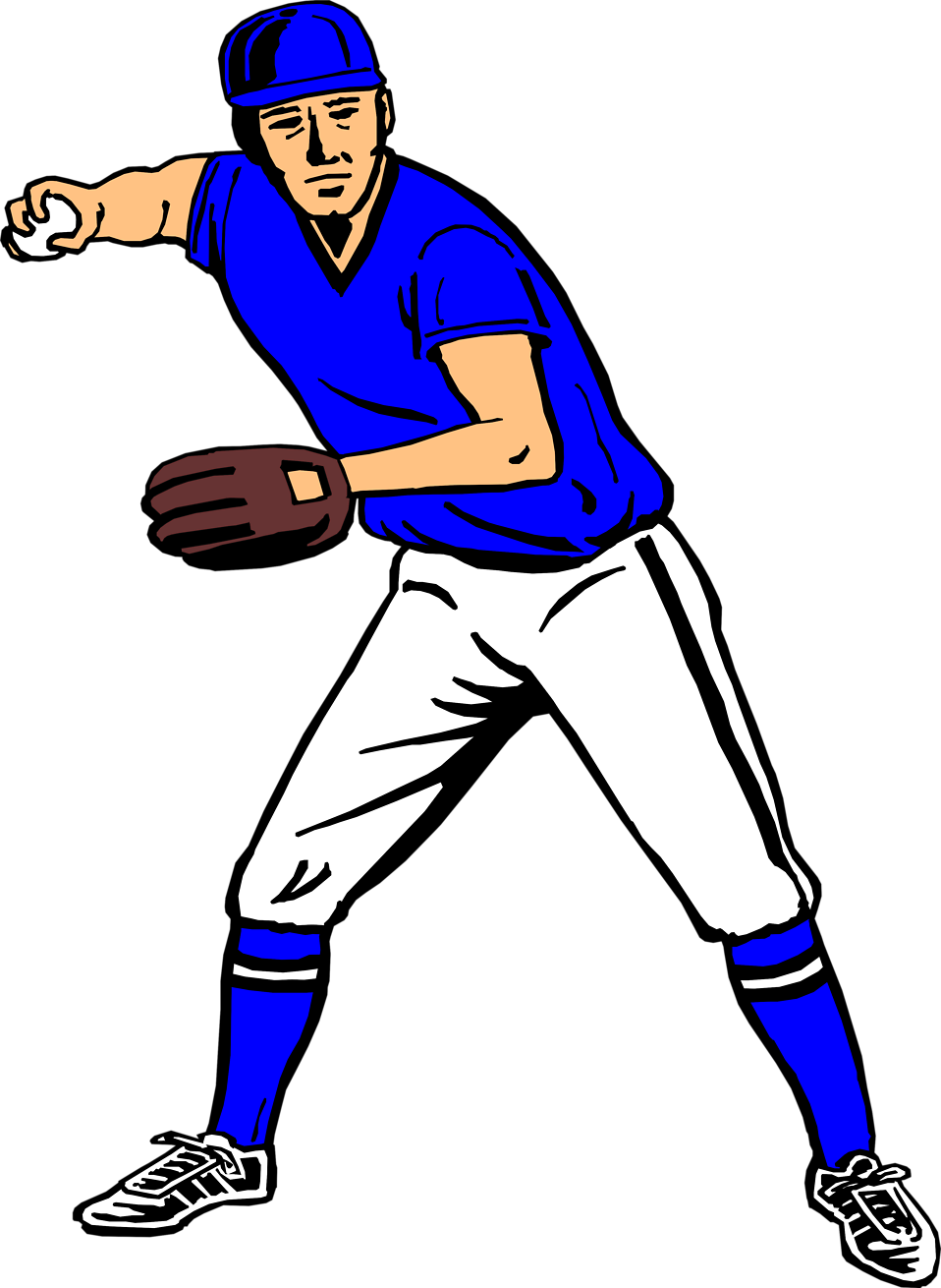 collection of player. Men clipart baseball