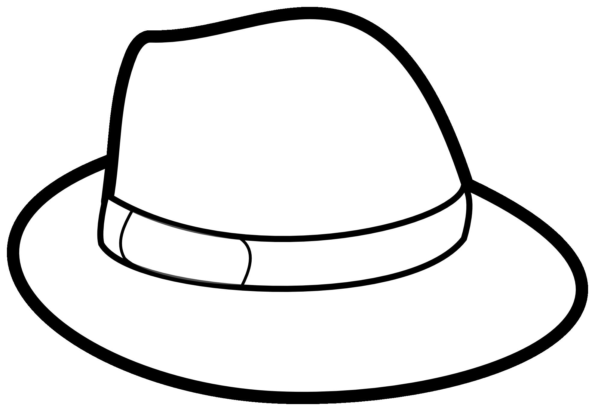 Fedora clipart black and white. Cowboy hat panda free