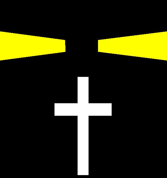 R clipart svg. Black lighthouse cross clip