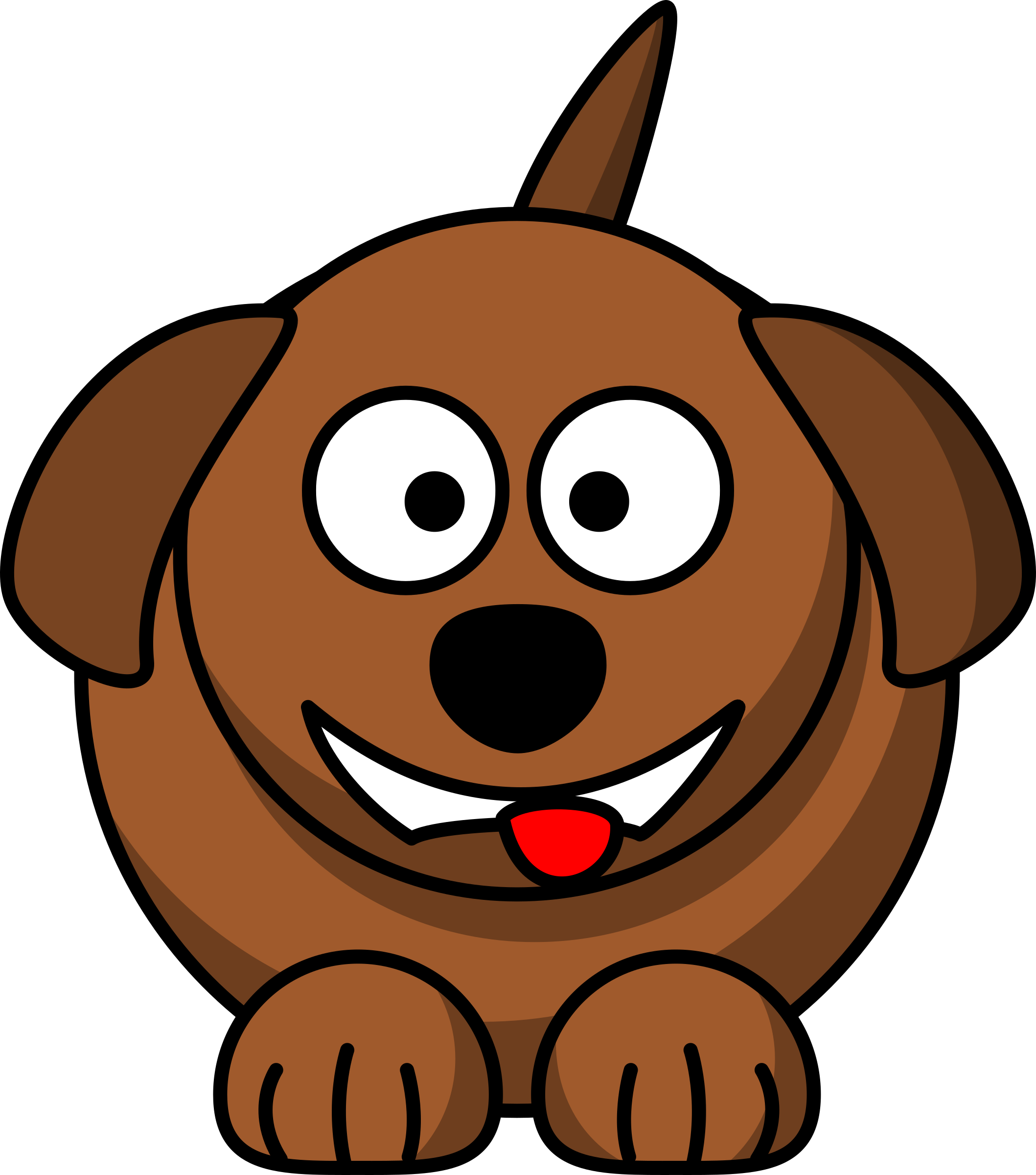 mouth clipart dog