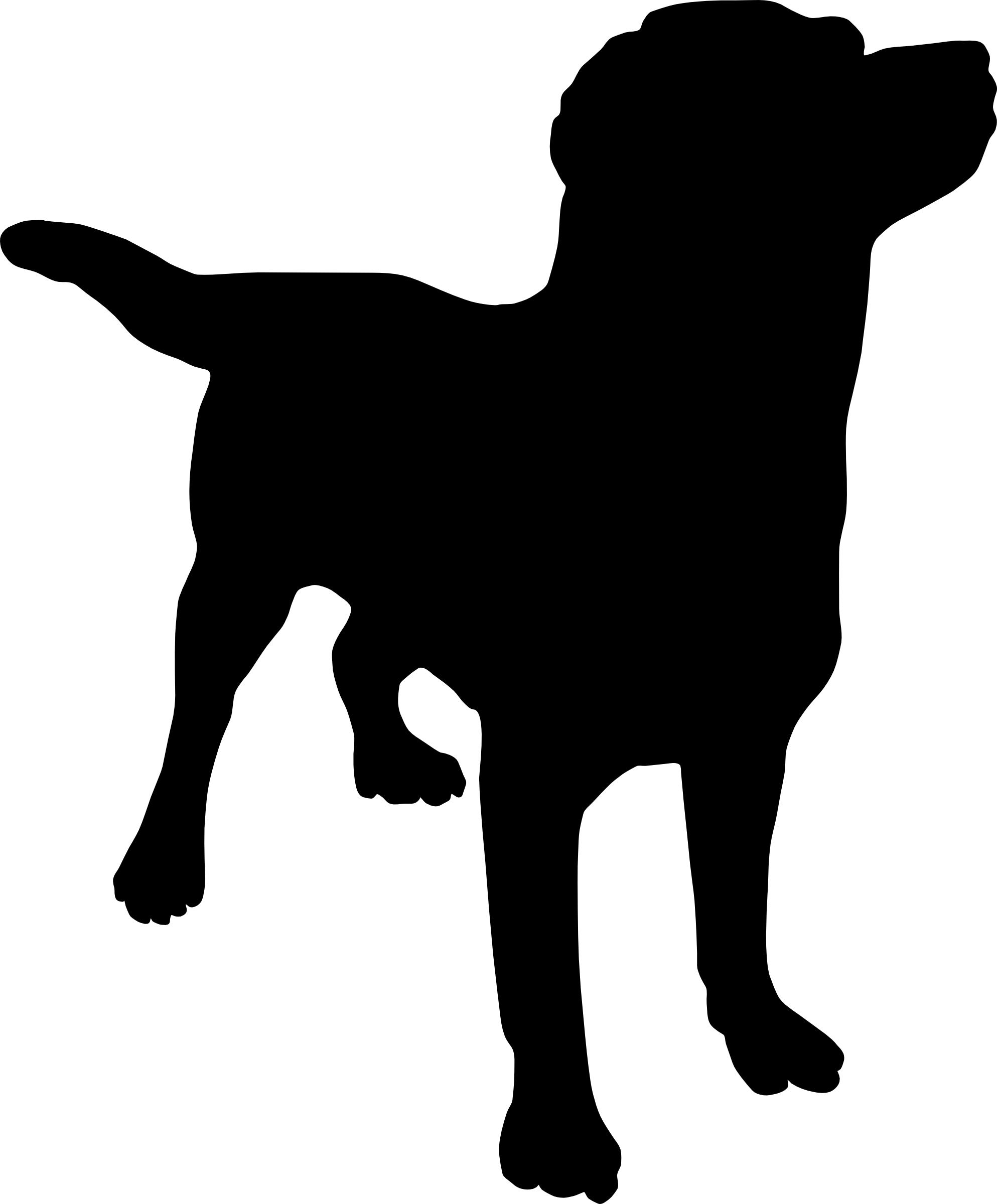 Pet clipart farm dog. Free silhouette clip art
