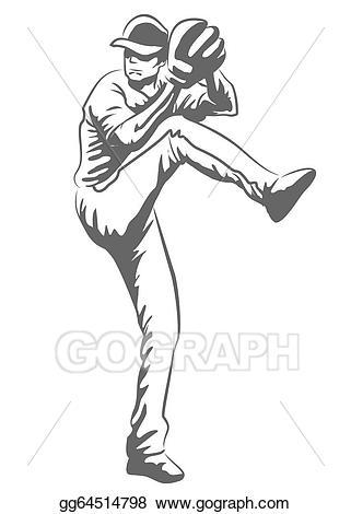 Clipart baseball drawing. Vector art player gg