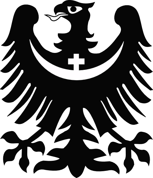 With crescent and cross. Eagle clipart stencil