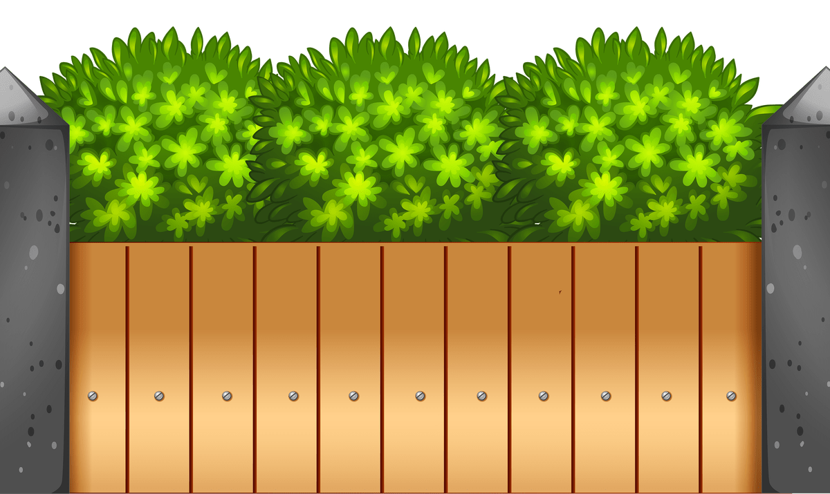 Gate clipart fenced yard. Cartoon wooden fences thing