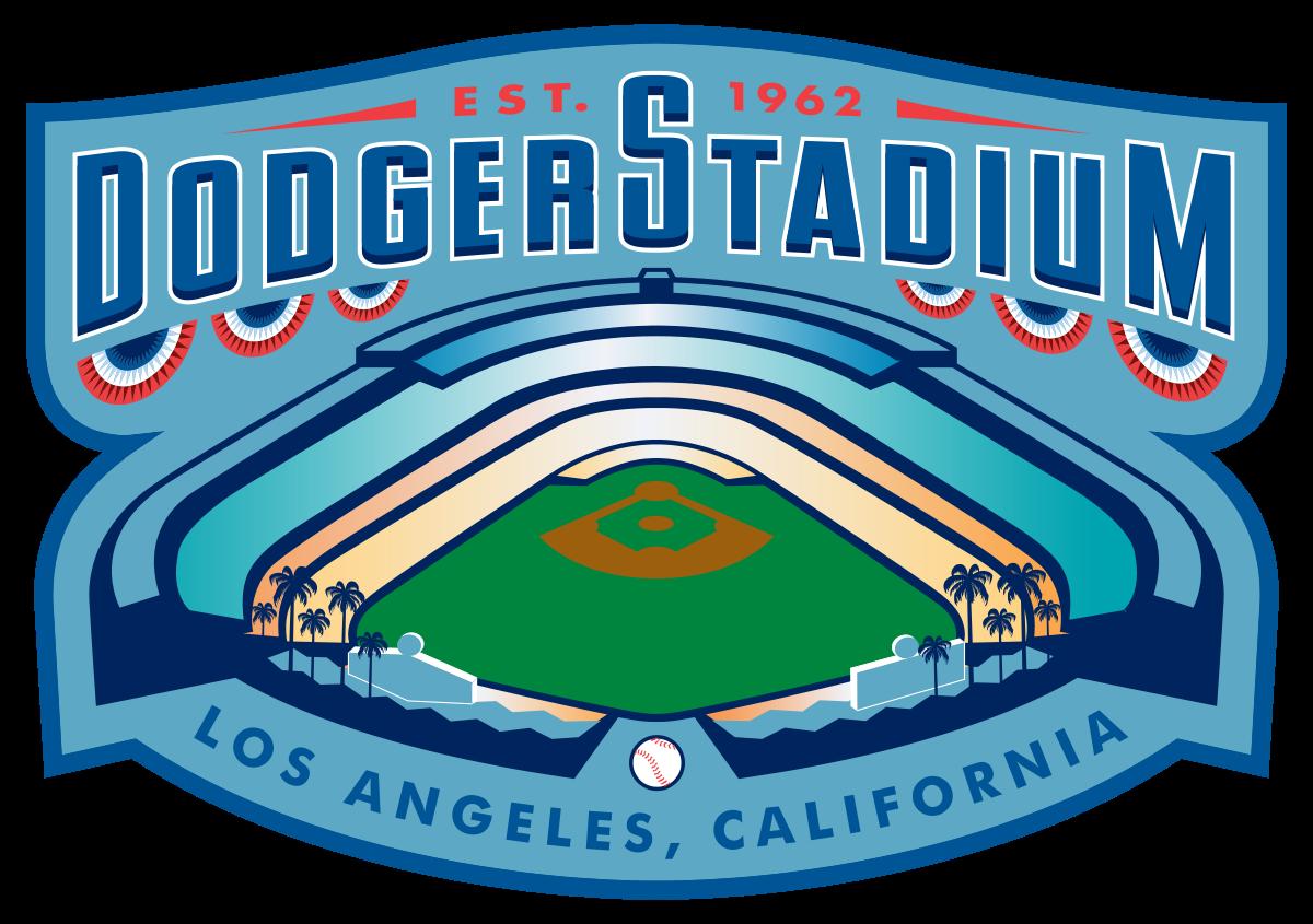 Dodger stadium wikipedia . Land clipart fence field