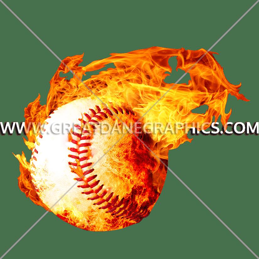Fireball production ready artwork. Clipart flames baseball