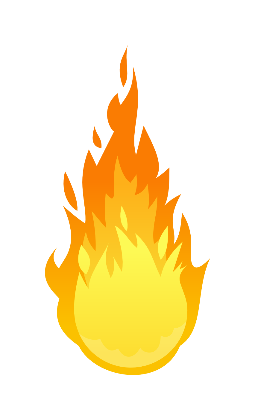 Small clip art images. Fire clipart hand