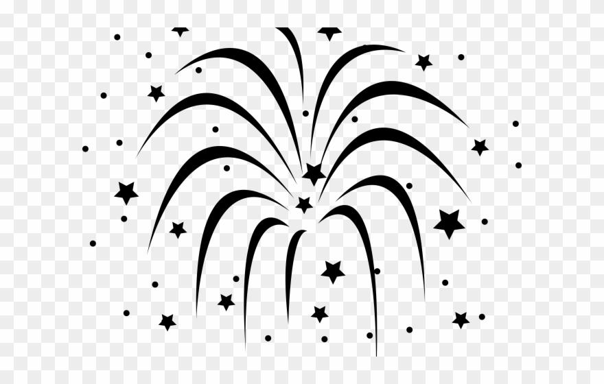 Firework black and white. Clipart fireworks baseball