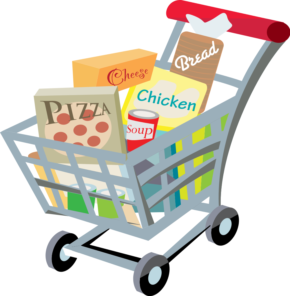 Good clipart foodclip. Trolley food shopping free