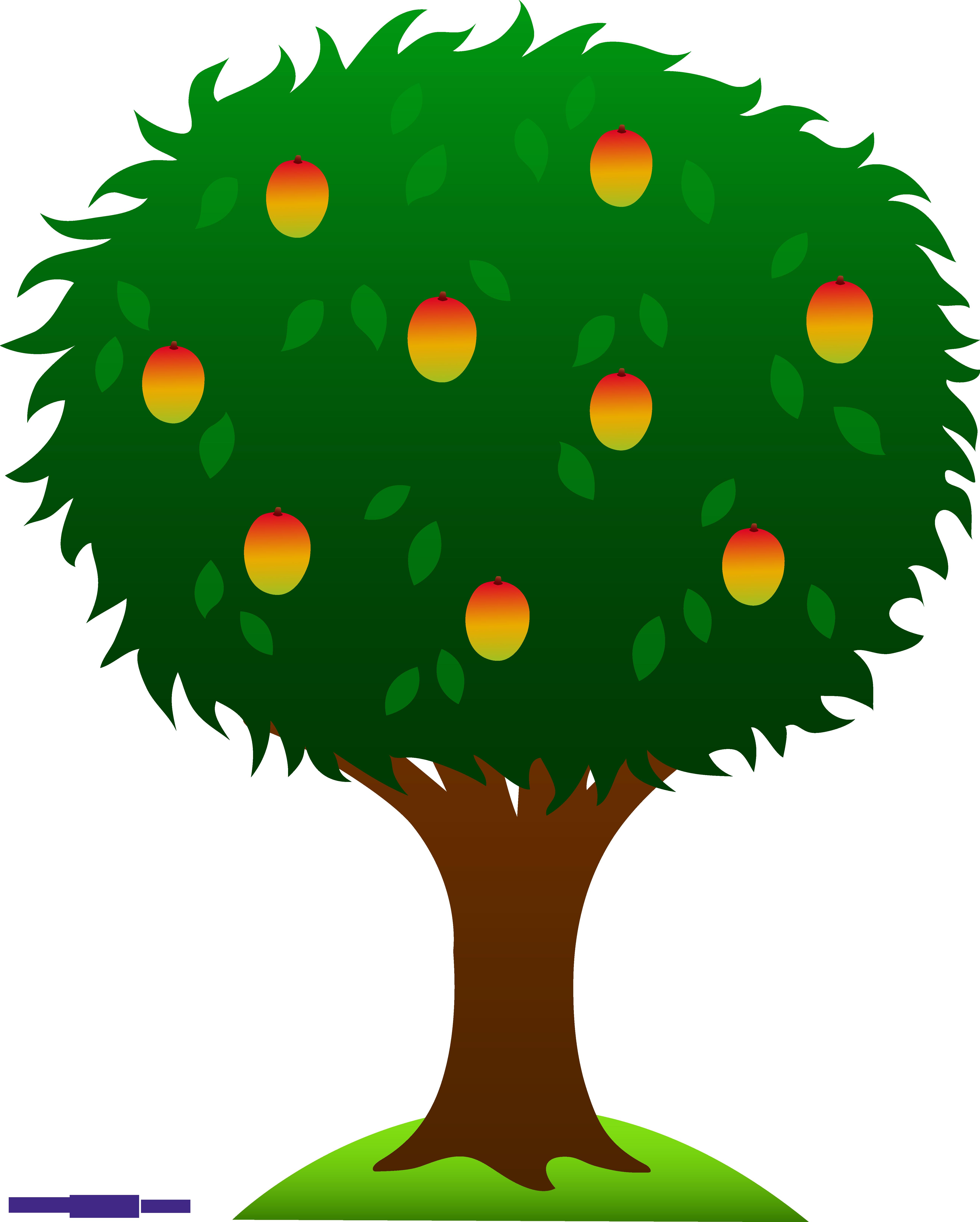 Tree sweet clip art. Mango clipart prutas