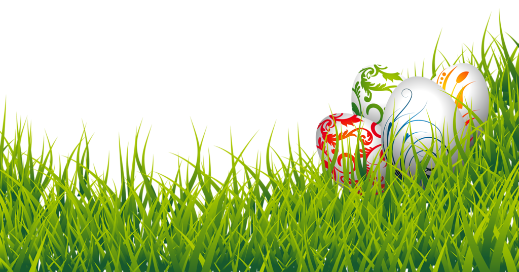 Easter eggs and png. Clipart grass vector