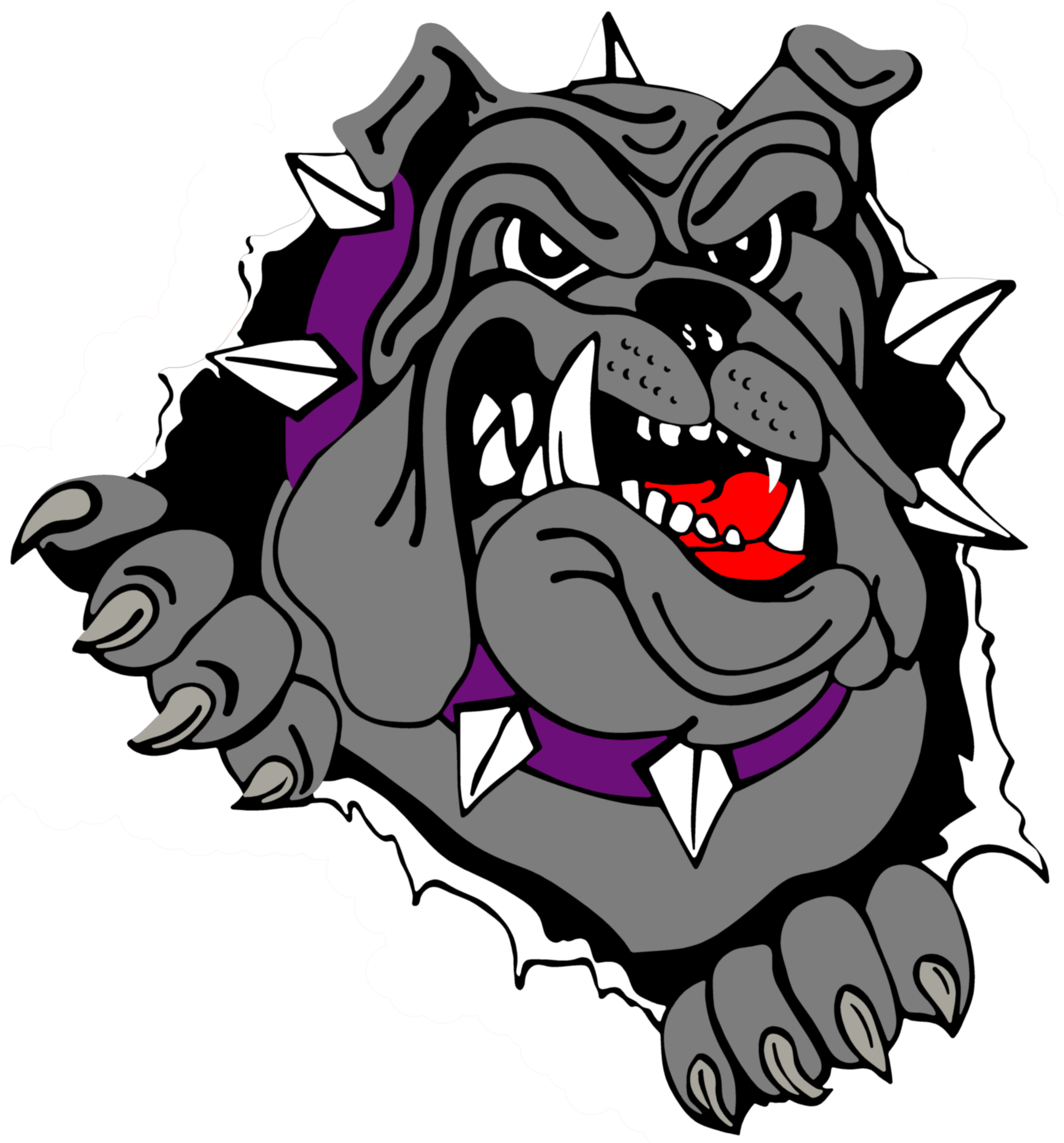 Bulldog head at getdrawings. Wrestlers clipart easy drawing