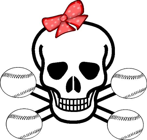 Skull clip art at. Softball clipart girl softball