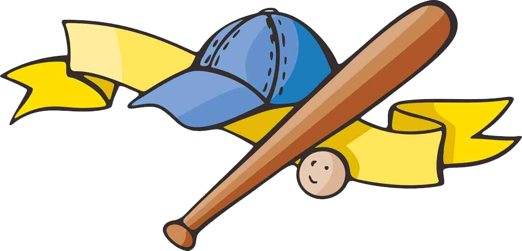 Cartoon clip art transprent. Hotdog clipart baseball