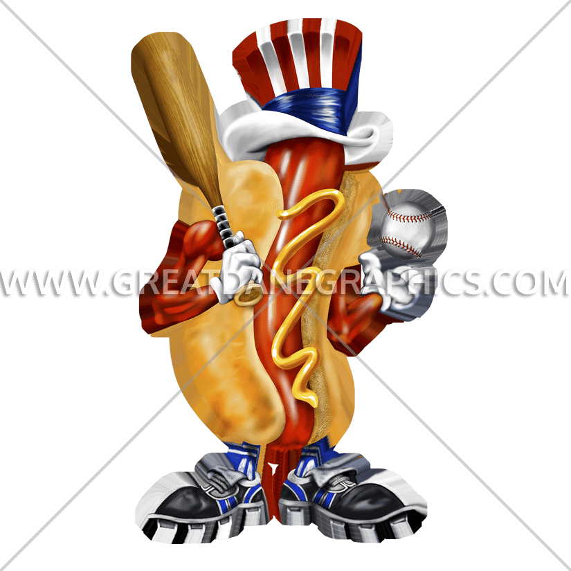 Production ready artwork for. Clipart baseball hotdog