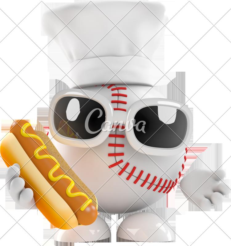 Clipart baseball hotdog.  d chef cooks