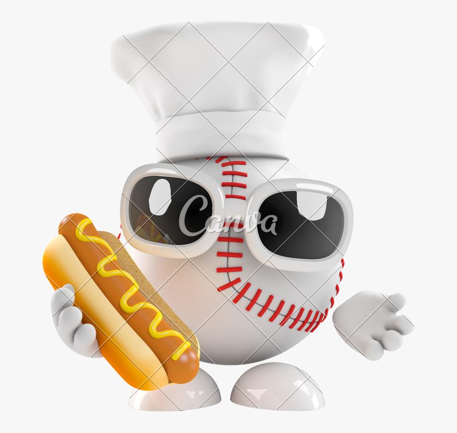Hot dog and . Hotdog clipart baseball