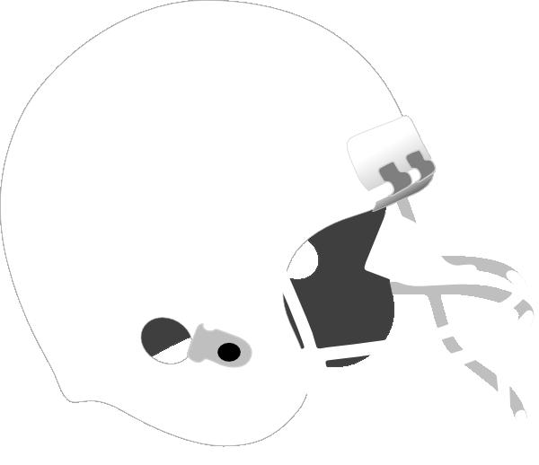 White clipart football. Grey helmet clip art