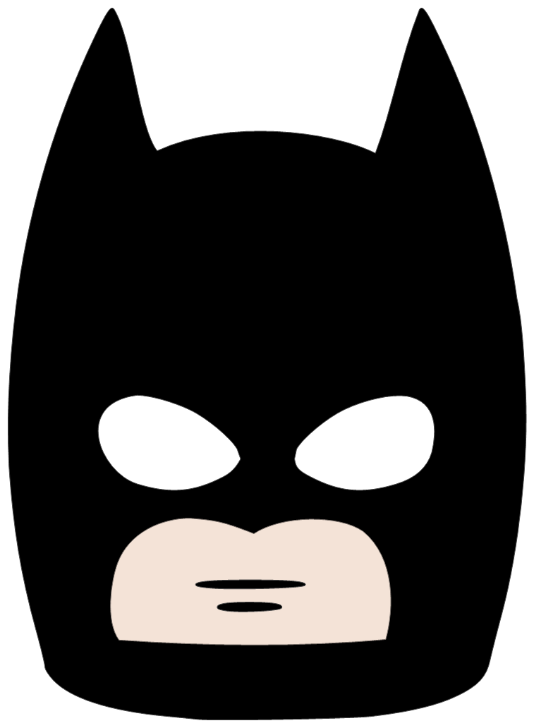 Mask clipart robber. Cartoon batman png free