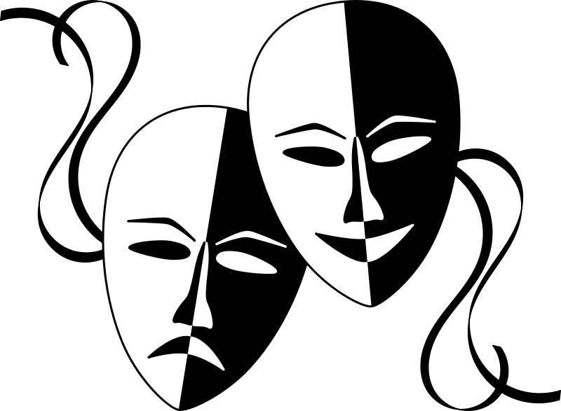 theater mask clip art free clipart theatre masks wasat space clipart