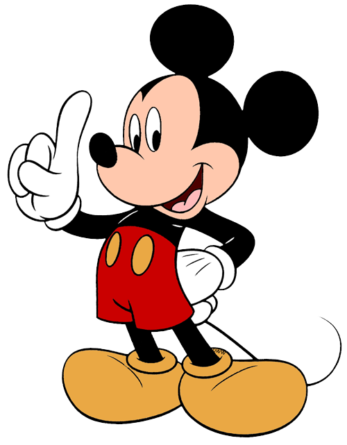 One clipart mickey mouse. Clip art disney galore