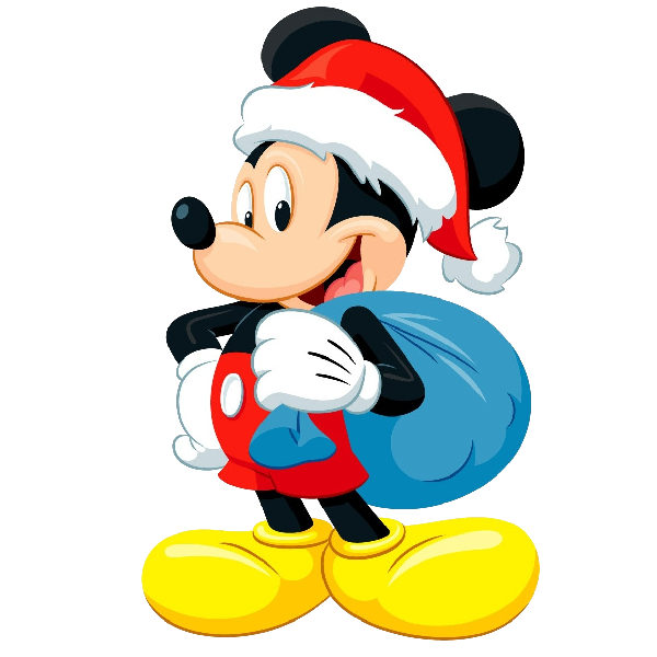 Mickey mouse xmas clip. Disneyland clipart new year