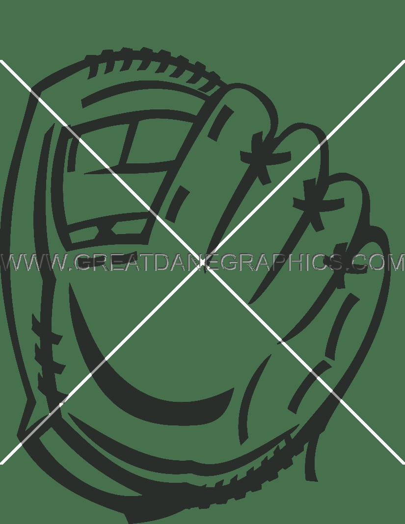 Glove production ready artwork. Coloring clipart baseball