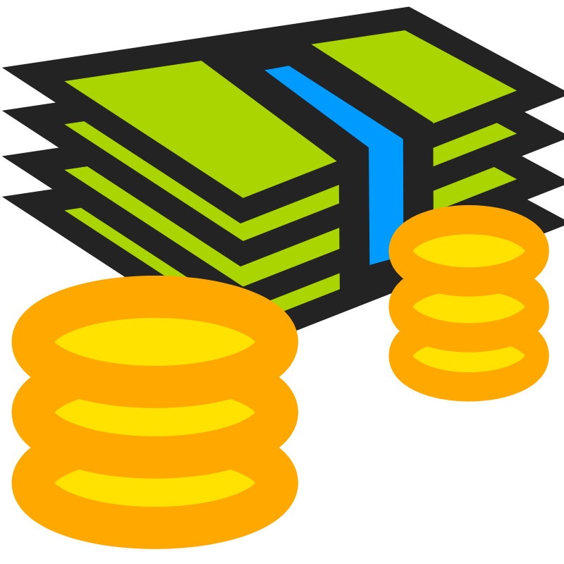 Economics clipart expenditure. Cartoon money stack of