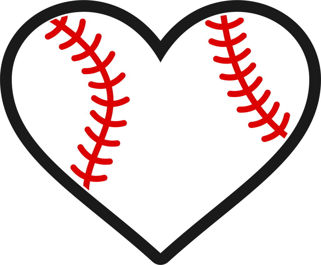 Stitch clipart softball. Baseball heart decal wicked