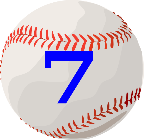 Clipart numbers baseball. Clip art at clker