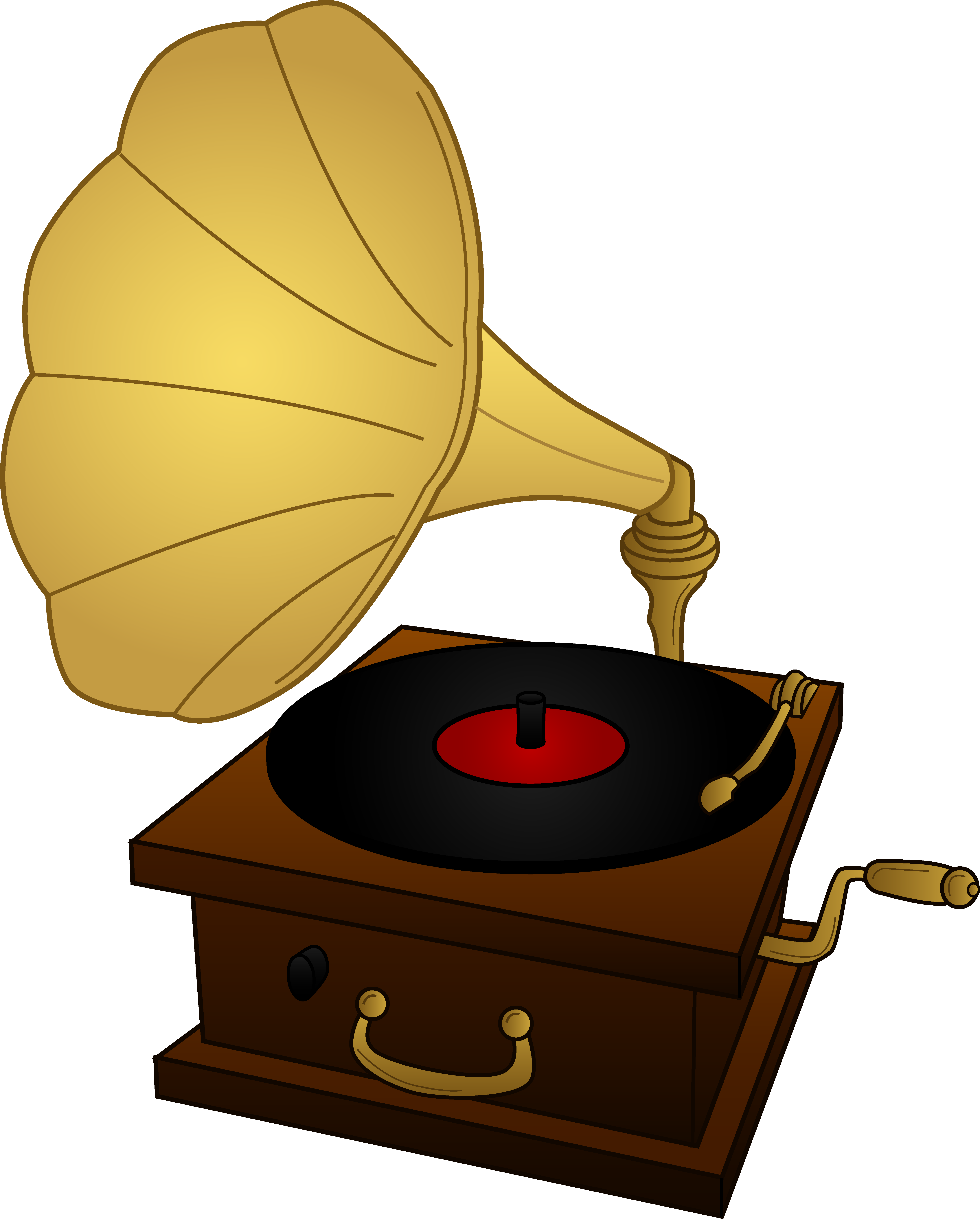 Steampunk clipart old fashioned. Record player drawing at