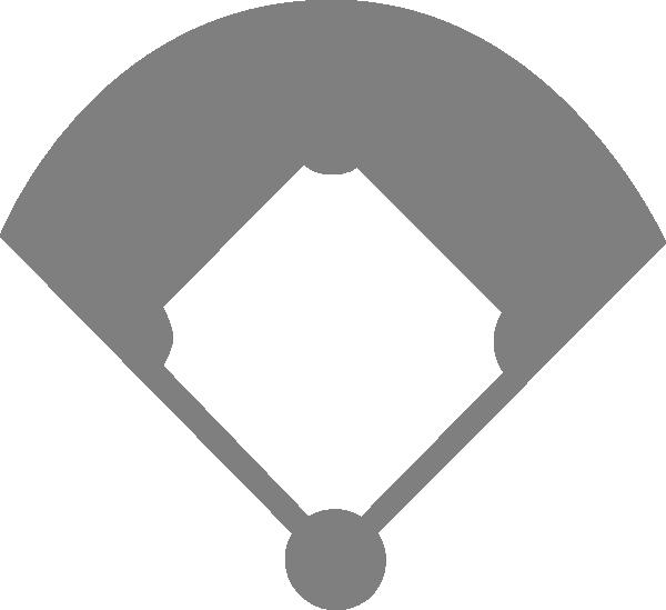 Clipart diamond diamond outline. Baseball field clip art