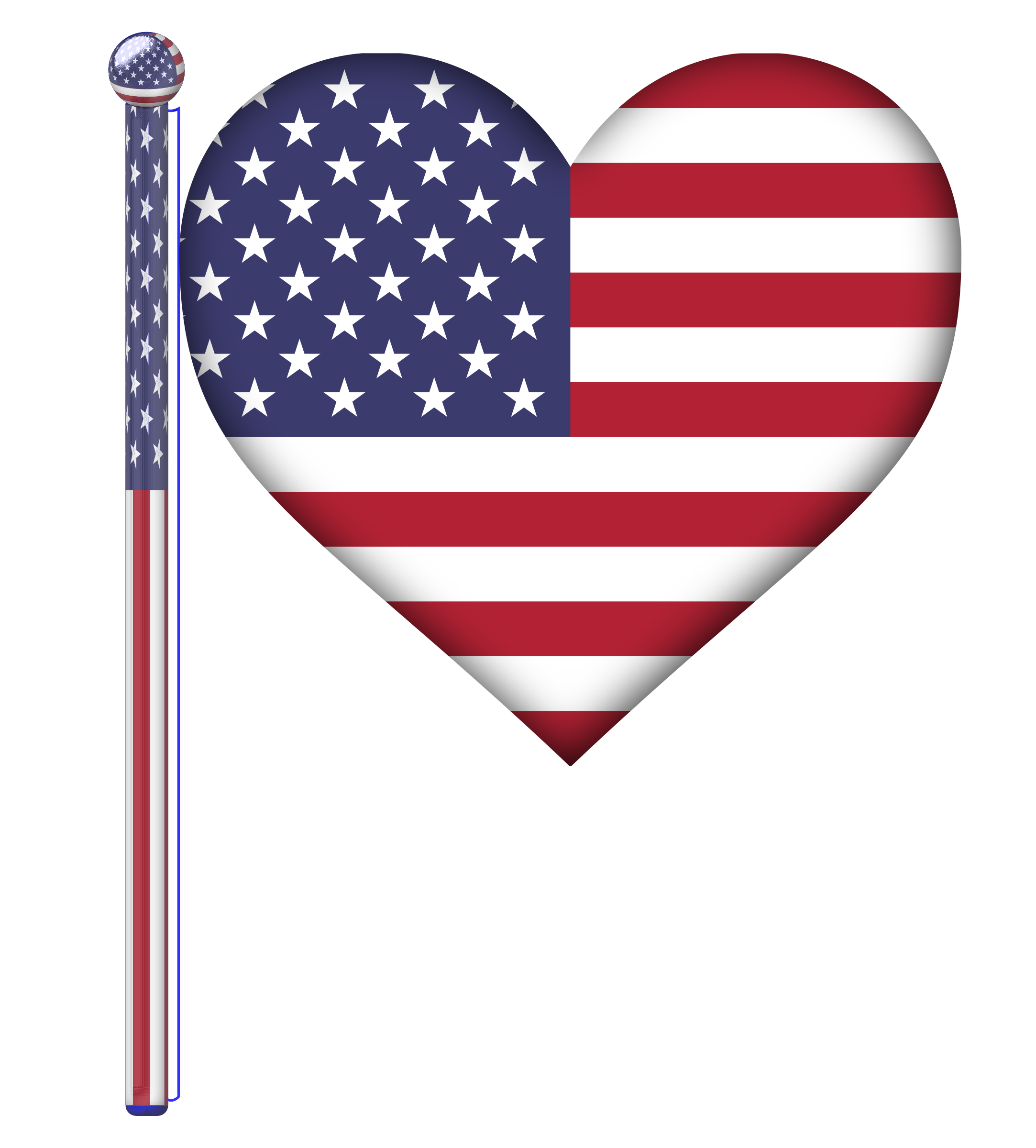 Patriotic clipart patriotic heart.  collection of usa