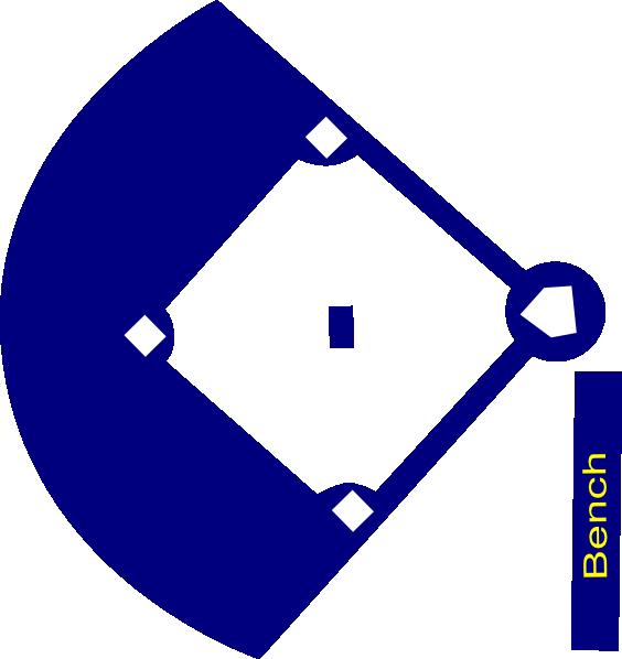Clipart diamond silhouette. Baseball field navy clip
