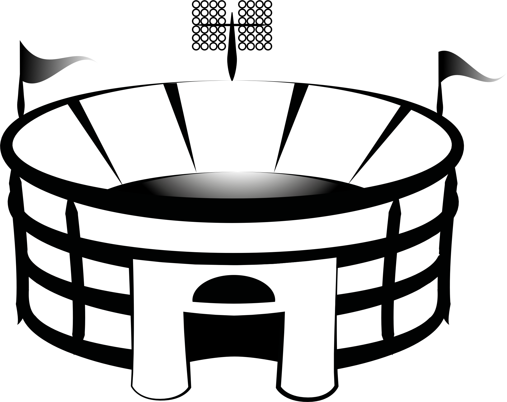 Arena panda free images. Lights clipart football