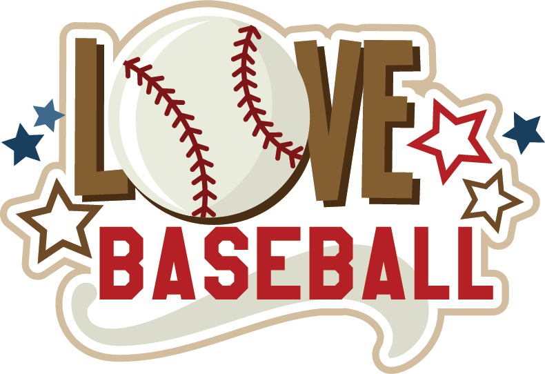 Love svg scrapbook collection. Words clipart baseball