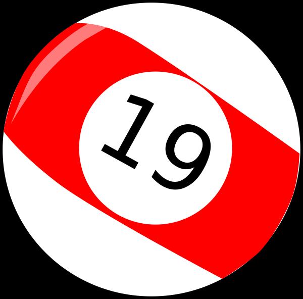 Nineteen billiard ball clip. Clipart baseball sign