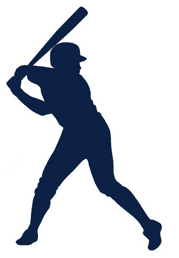 collection of player. Clipart baseball silhouette