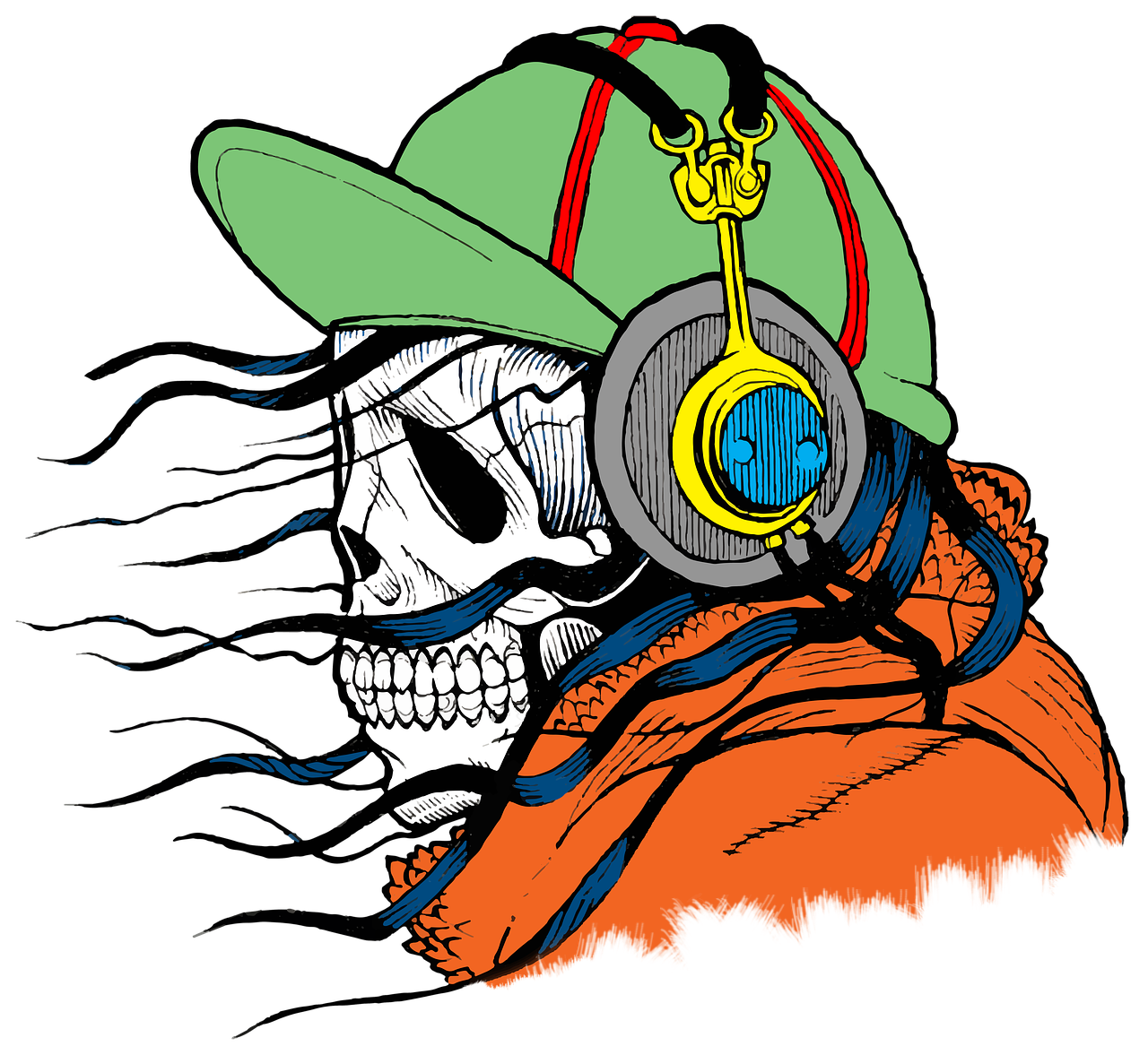 Guitar clipart skull. Free image on pixabay