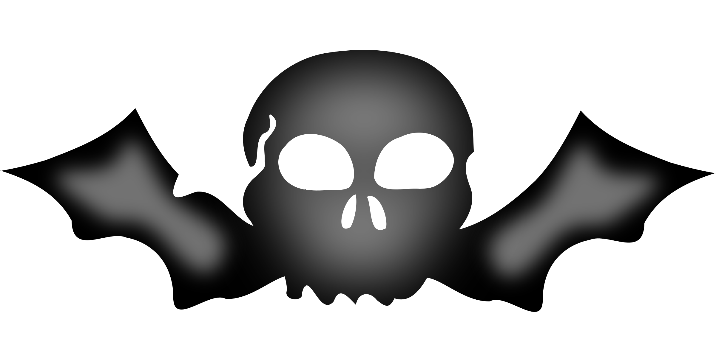 Wing clipart skull. A with bat wings